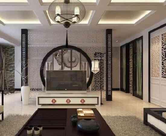 白色家具新中式客厅