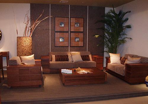 适合新中式风格的实木家具