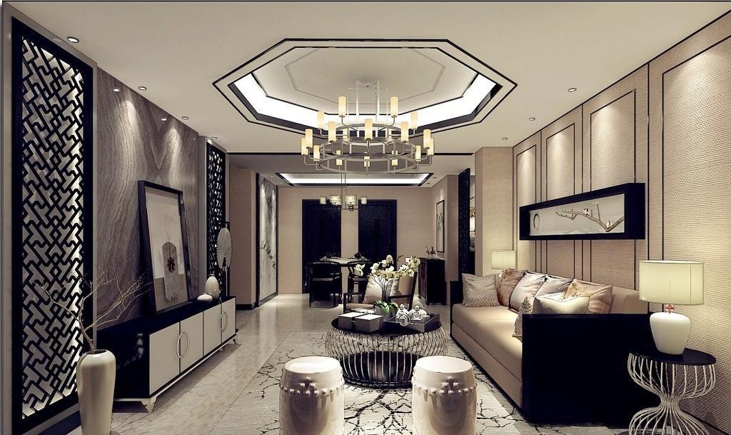 室内新中式家具摆设